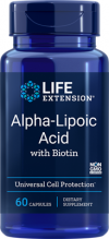 Alpha Lipoic Acid with Biotin 60 Capsules - Product Image